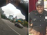 Moment Atlanta cop is struck and thrown to pavement by out-of-control car as he responds to crash