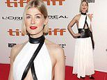 Rosamund Pike stuns during premiere of Radioactive at the Toronto International Film Festival