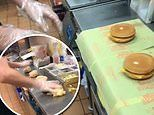 Viral video shows McDonald's worker wrapping five cheeseburgers in five seconds WITHOUT messing up