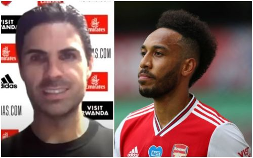 Mikel Arteta insists Pierre-Emerick Aubameyang is happy with Arsenal role after complaints from striker's brother