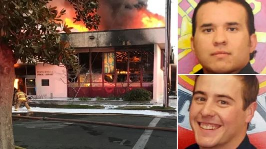 Two 13 year-old boys charged with murder after library arson killed two firefighters