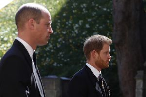 Lip readers have revealed what Prince Harry and Prince William said to each other during their walk on Saturday