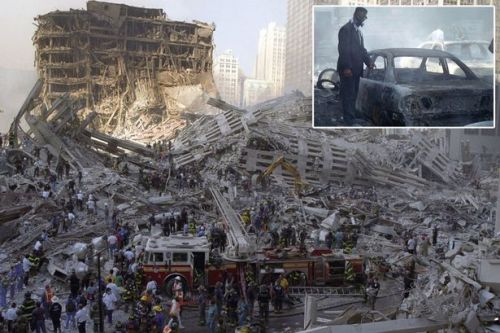 Never before seen photos of 9/11 carnage taken by medic first on scene at Twin Towers