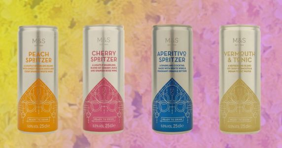 M&S unveils four new types of cocktail in a can