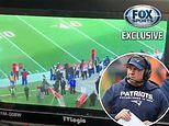 Moment Patriots video crew is caught filming spy footage of the Bengals sidelines against NFL rules