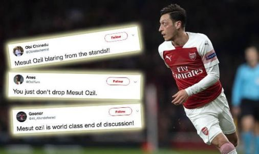 Mesut Ozil sends Arsenal fans into MELTDOWN as they send clear message to Unai Emery