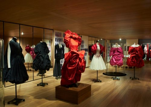 Roses exhibition at the alexander mcqueen flagship store