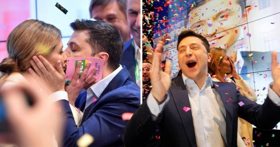 Comedian who played state leader in sitcom 'wins Ukrainian presidential election'