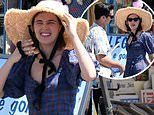 Zoey Deutch oozes daytime glamour as she continues her Ischia getaway with beau Dylan Hayes