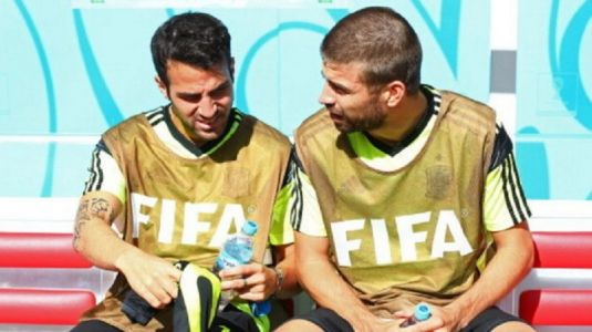 Cheeky Cesc Fabregas relishes Spain chaos after manager snub