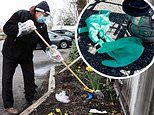 Grocery store workers at risk as shoppers litter dirty masks and gloves in parking lots