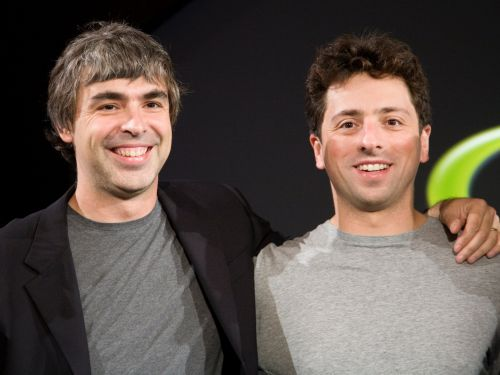 Google's billionaire cofounders Sergey Brin and Larry Page dropped a surprise visit on a PhD student who sits in Page's old office at Stanford