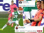 Arsenal fan Piers Morgan rages at goalkeeper Bernd Leno after gifting Rapid Vienna the lead