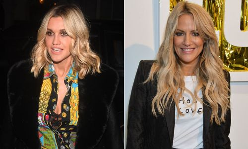 Ashley Roberts fights back tears as she makes reference to father's death - watch video