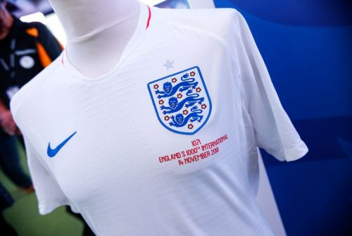 What are the 'legacy numbers' England players are on their shirts for the 1000th international?