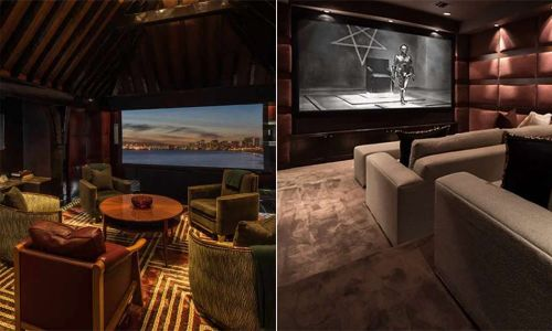 8 celebrities with their own amazing home cinemas