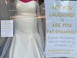 Bridal boutique owner says size 32 mannequin she put in window is 'fat-shamed everyday'