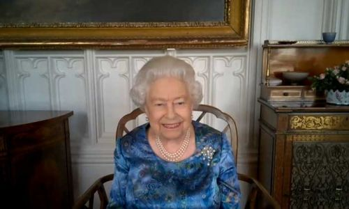 The Queen left most amused by serviceman's exercise regime during video call