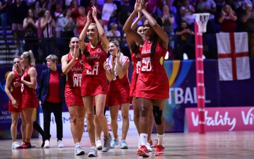 England effectively guaranteed semi-final place after netball World Cup victory over Jamaica