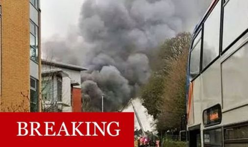 Exeter fire: Major incident and evacuation declared as asbestos-covered building erupts
