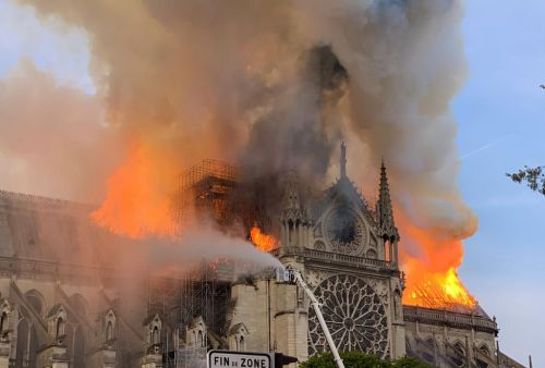 A former far-right political candidate who believed a conspiracy theory about the Notre Dame fire tried burning down a French mosque as 'revenge'