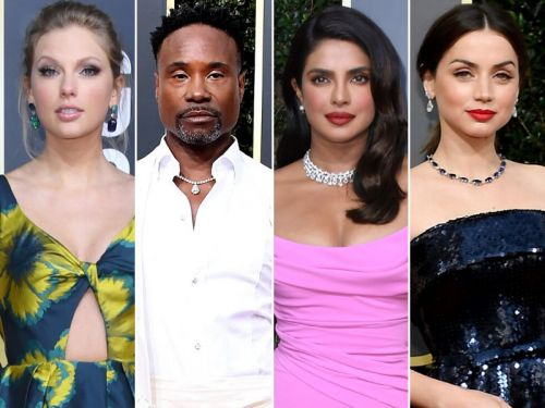 Golden Globes Red Carpet: Black-and-White Color Blocking Is Not Just For the Tuxes