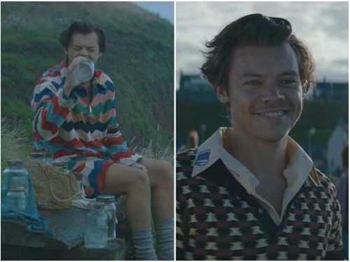 Harry Styles just dropped a bizarre, 8-minute-long music video for 'Adore You,' which is set in the fictional Isle of Eroda where everyone frowns