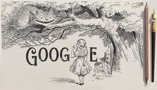 Who was John Tenniel - the Alice In Wonderland illustrator being celebrated with a Google Doodle?