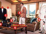 Geoffrey Moore, son of Sir Roger Moore, 55, in the Gstaad Palace Hotel in Switzerland
