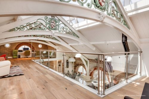 Luxury flat inside converted Victorian municipal baths is on sale for £1million