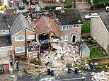 Huge 'gas' explosion destroys house and leaves man injured as witnesses describe 'street shaking'