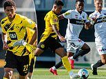 Altach 0-6 Borussia Dortmund: Jadon Sancho and Jude Bellingham combine to set up a Erling Haaland