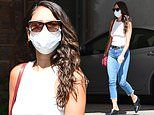 Eiza Gonzalez shows off trim figure in fitted top in Beverly Hills
