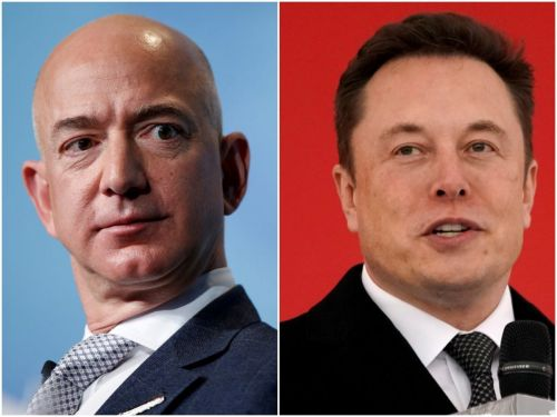 While CEOs across America decry the rampage in Washington, Jeff Bezos is silent and Elon Musk is posting memes