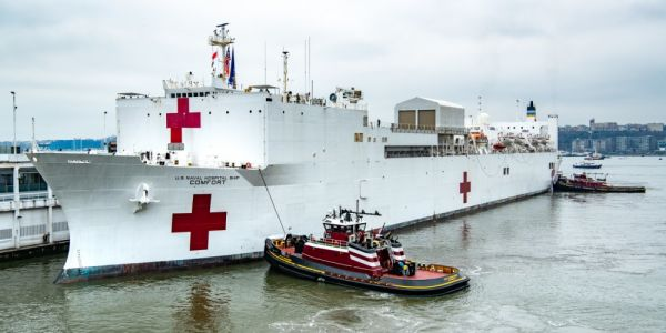 The hospital ship USNS Comfort is treating only a small number of patients, but the military is scrambling to fix that