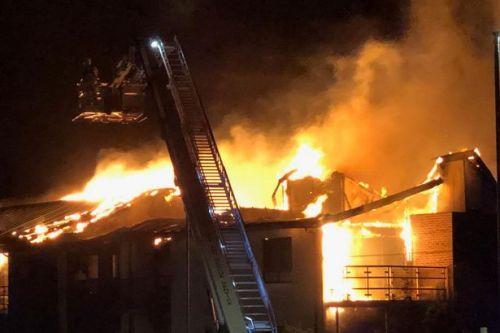 BREAKING Brighton fire: Block of flats engulfed in roaring flames with thick smoke rising