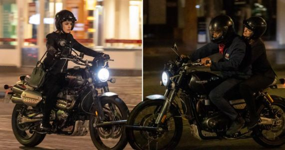 Anne Hathaway and Chiwetel Ejiofor speed through empty London streets on motorbike for pandemic-themed heist film Lockdown