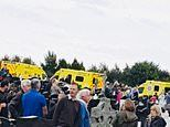 Seriously injured grandfather among several hurt after car 'deliberately' drove into cemetery crowds