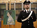 Two men admit stealing then returning £50m Gustav Klimt work found in Italian art gallery wall