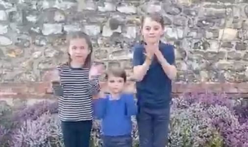 Prince George, Princess Charlotte and Louis clap for NHS heroes in cute video 'Thank you!'