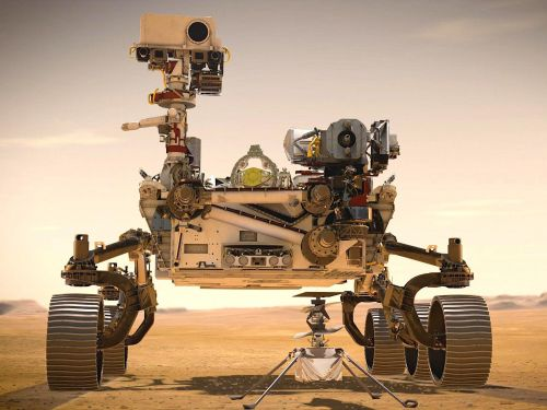 NASA stowed the first interplanetary helicopter in the belly of its Mars rover - a 'magic trick' that could return unprecedented video