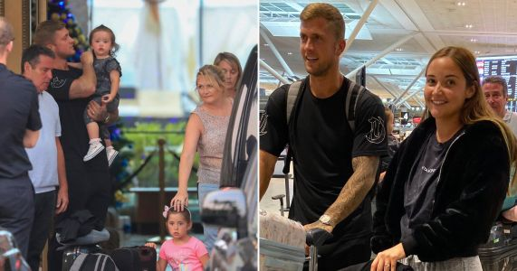 Jacqueline Jossa flies home with Dan Osborne as they put on united front following I'm A Celebrity