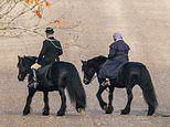 Queen goes for horse ride in Windsor Castle grounds days after Prince Andrew's 'car crash' interview