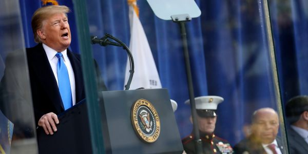 Trump used his Veterans Day speech to honor Gold Star families, even though he's publicly feuded with them