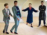 AJ and Curtis Pritchard swap pyjamas for suits in third Dress Up, Dance, Donate tutorial