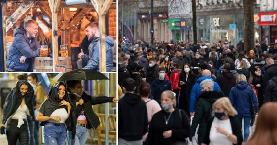 Pubs and shops packed in Wales as England faces two more weeks in lockdown