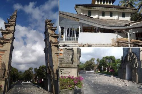 Bali earthquake: Tourists flee hotels in terror as 6.1 magnitude tremor strikes