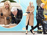 Holly Willoughby and Phillip Schofield attempt to beat a world record for PANCAKE FLIPPING