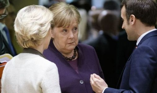 EU embarrassment: Moaning Merkel admits 'tough and difficult' times ahead after budget gap