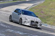 2021 Hyundai i30 N and Fastback N seen lapping the Nurburgring
